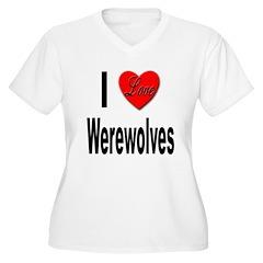 I Love Werewolves (Front) T-Shirt