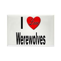 I Love Werewolves Rectangle Magnet (10 pack)