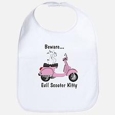 Evil Kitty PINK Bib