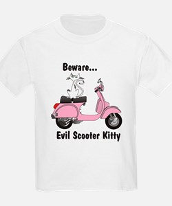 Evil Kitty PINK Kids T-Shirt