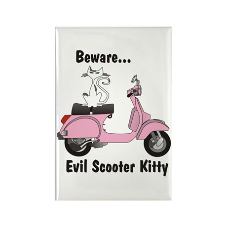 Evil Kitty PINK Rectangle Magnet