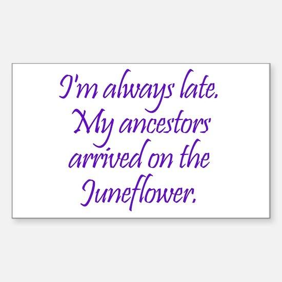 Late Ancestors Sticker (Rectangle)