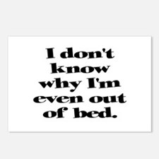 Why Get Out of Bed Postcards (Package of 8)