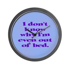Why Get Out of Bed Wall Clock