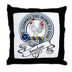Sinclair Clan Badge Throw Pillow