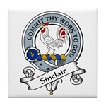 Sinclair Clan Badge Tile Coaster