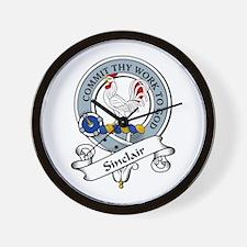 Sinclair Clan Badge Wall Clock
