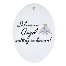 Angel Waiting Ornament (Oval)