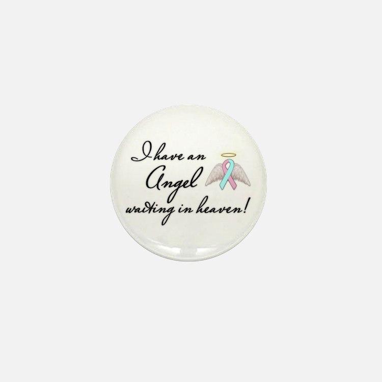 Angel Waiting Mini Button