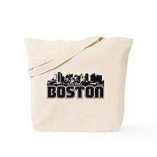 Boston Skyline Tote Bag