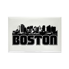 Boston Skyline Rectangle Magnet