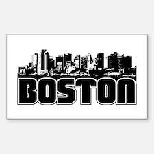 Boston Skyline Sticker (Rectangle)