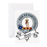 Shaw Clan Badge Greeting Cards (Pk of 10)