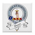 Shaw Clan Badge Tile Coaster