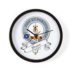 Shaw Clan Badge Wall Clock