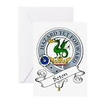 Seton Clan Badge Greeting Cards (Pk of 10)