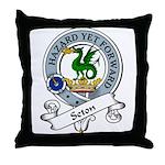 Seton Clan Badge Throw Pillow