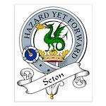 Seton Clan Badge Small Poster
