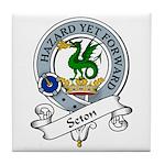 Seton Clan Badge Tile Coaster