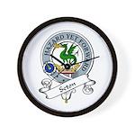 Seton Clan Badge Wall Clock