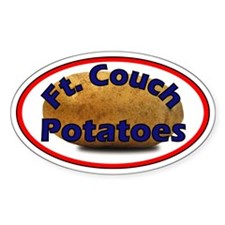 Ft. Couch Potatoes oval sticker