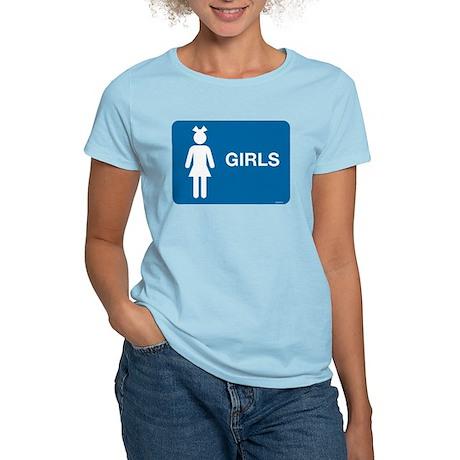 Rest Room Sign Women's Light T-Shirt
