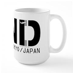 Haneda Japan airport code HND Large Mug