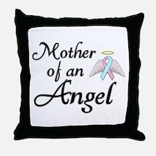 Mother of an Angel Throw Pillow