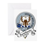 Sandilands Clan Badge Greeting Cards (Pk of 10