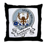 Sandilands Clan Badge Throw Pillow