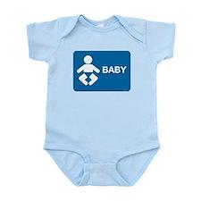 Rest Room Sign Infant Bodysuit