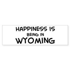 Happiness is Wyoming Bumper Bumper Sticker