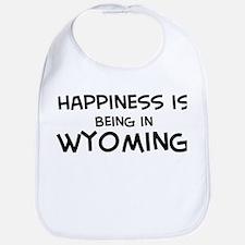 Happiness is Wyoming  Bib