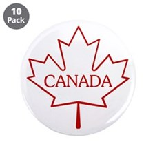 """Maple Leaf 3.5"""" Button (10 pack)"""