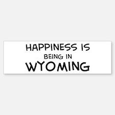 Happiness is Wyoming Bumper Bumper Bumper Sticker