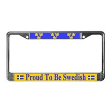 Proud To Be Swedish License Plate Frame