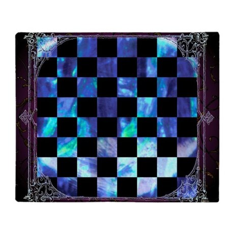 Vintage Chess Board Blanket (one-sided)
