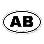 Atlantic Beach Florida AB Euro Oval Sticker