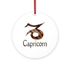 Capricorn Zodiac Gifts Ornament (Round)