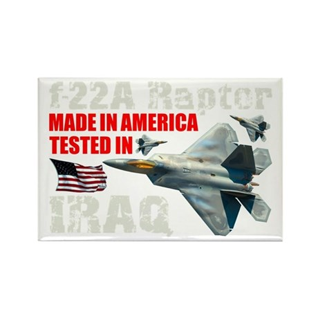 f-22A Raptor Made In America Rectangle Magnet (10