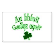 Speak Irish? Rectangle Decal