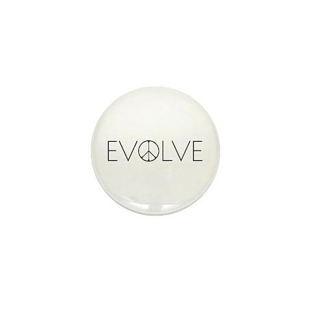 Evolve Peace Narrow Mini Button (100 pack)