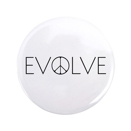 """Evolve Peace Narrow 3.5"""" Button (100 pack)"""