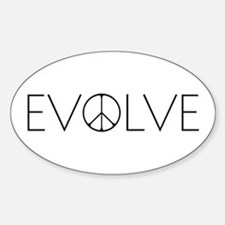 Evolve Peace Narrow Sticker (Oval)