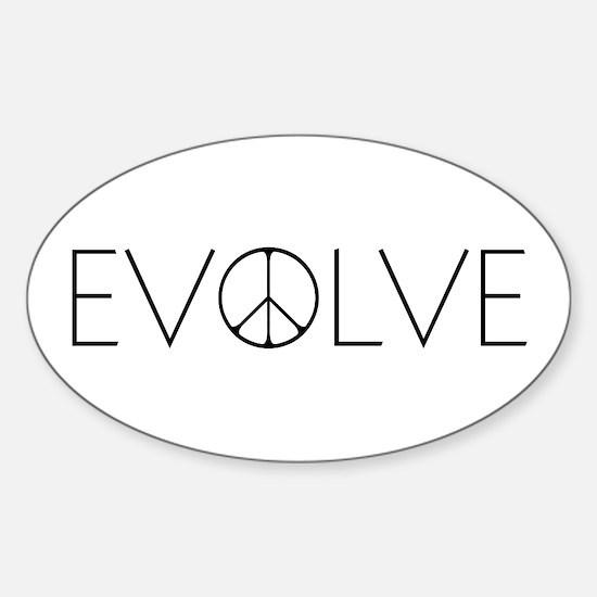 Evolve Peace Narrow Sticker (Oval)
