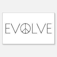 Evolve Peace Narrow Decal