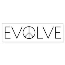 Evolve Peace Narrow Bumper Sticker