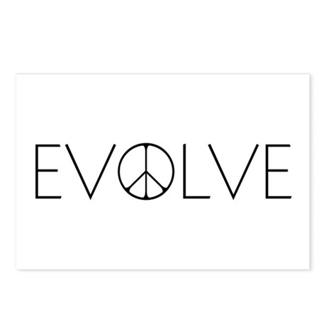 Evolve Peace Narrow Postcards (Package of 8)