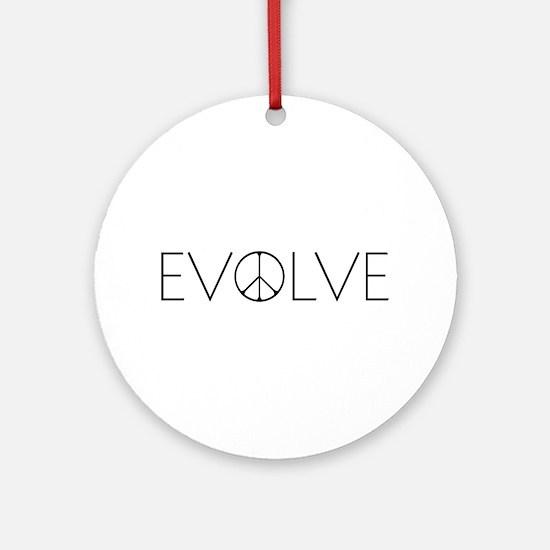 Evolve Peace Narrow Ornament (Round)