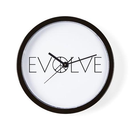Evolve Peace Narrow Wall Clock